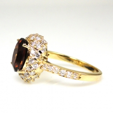 2.35 Carat Canary Honey Zircon And Diamond Ring In 14k White Gold