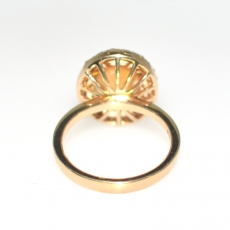 2.35 CARAT ETHIOPIAN OPAL AND DIAMOND RING IN 14K YELLOW GOLD