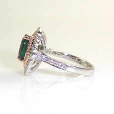 2.37 Carat Natural Color Change Alexandrite And Diamond Ring In 14k Dual Tone( White / Rose) Gold