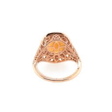 2.67 Carat Ethiopian Opal And Diamond Ring 14k Rose Gold