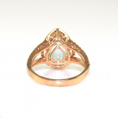 2.79 Carat Aquamarine and Diamond ring in 14K Rose Gold