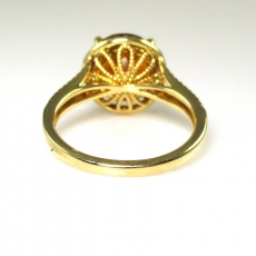 3.25 Carat Madeira Citrine And Diamond Ring In 14K Yellow Gold