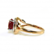 3.43 Carat Madagascar Ruby And Diamond Ring In 14k Dual Tone (rose/white) Gold