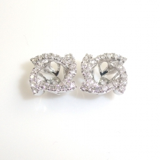 4.5mm Round Diamond Earring Jacket In 14k White Gold