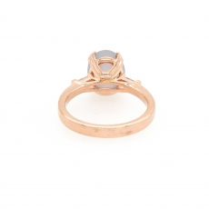 4.67 Carat Natural Star Sapphire And Diamond Ring In 14k Rose Gold