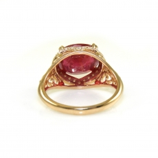 4.7 Carat Madagascar Ruby And Diamond Ring In 14k Rose Gold