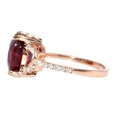 5.94 Carat Madagascar Ruby And Diamond Ring In 14k Rose Gold