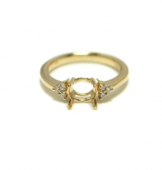 6x4mm Oval Ring Semi Mount In 14k Gold ( Rso220)