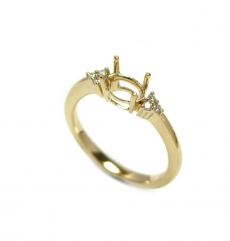7x5mm Oval Ring Semi Mount In 14k Gold ( Rso220 )