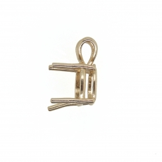 8mm Cushion Pendant Finding in 14K Gold