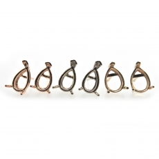 9x6mm Pear Findings In 14k Gold