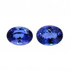 AAA Tanzanite Oval 9x7mm Matching Pair 4.25 Carat*