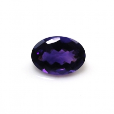 Amethyst  Oval 14x10mm Single Piece Approximately 5.51 Carat