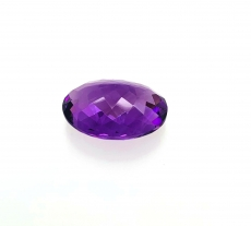 AMETHYST  OVAL 18X13MM  APPROXIMATELY 11.17 CARAT