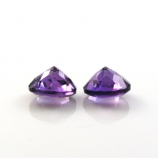 Amethyst  Round 9mm Matched Pair Approximately 4.95 Carat