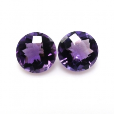 AMETHYST  ROUND 9MM MATCHing PAIR APPROXIMATELY 5 Carat