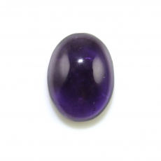Amethyst Cab Oval 20x15mm Approximately 15 Carat