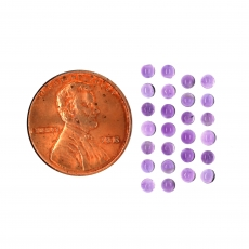 Amethyst Cab Round 2.5mm Approximately 2 Carat