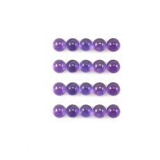 Amethyst Cabs  Round 6mm Approximately 16 Carat