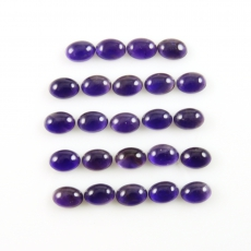 Amethyst Cabs Oval 7x5mm Approximately 18 Cara7