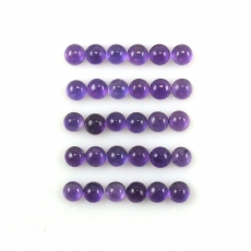 Amethyst Cabs Round 4mm Approximately 9 Carat
