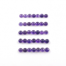 Amethyst Cabs Round 5mm Approximately 17 Carat