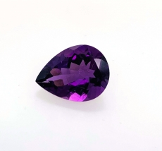 Amethyst Pear 16x12mm Approximately 7.62 Carat
