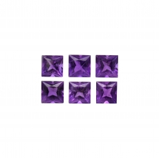 Amethyst Princess Cut 4mm Approximately 2 Carat