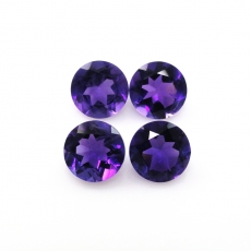 Amethyst Round 6mm Approximately 2 .70 Carat