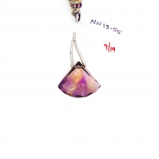 Ametrine Drops Fan Shape 22x18mm Single Loose Stone