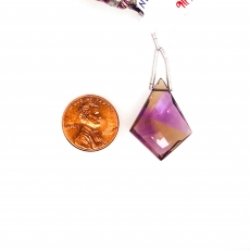 Ametrine Drops Shield Shape 22x20mm Single Loose Stone