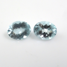 Aquamarine Approximately 3.80 Carat Oval 9.5x7.5mm Checkerboard Cut