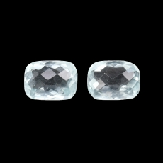 Aquamarine Cushion 8x6mm Matching Pair Approximately 2.80 Carat