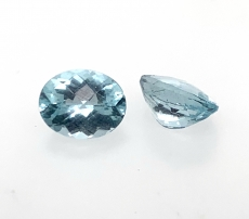 Aquamarine Oval 9x7mm Approx 3.40 Carat Matching Pairs