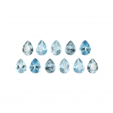 Aquamarine Pear Shape 4x3mm Approximately 1 Carat