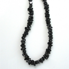 Black Diamond Rough Bead Approximately 35 Carat 2-3mm  Ready To Wear Necklace