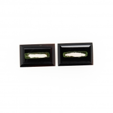 Black Onyx Baguette Shape 16x10mm Approx 9.45 Carat Matching Pair