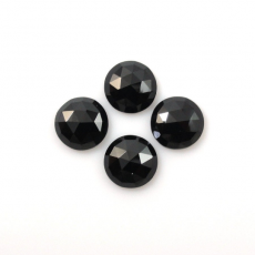 Black Spinel Round 8mm  approx 9 carat