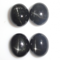 Black Star Diopside Oval 11X9mm  Approximately 20 Carat