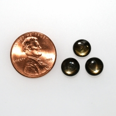 Black Star Sapphire Cab Round 7.5mm Approximately 6 Carat