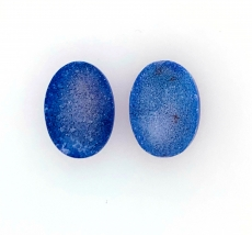 Blue  Druzy Quartz Oval 18x14mm 21 Carat