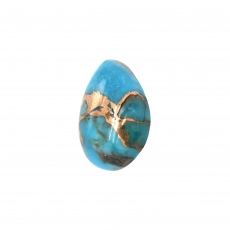 Blue Copper Turquoise Cab Pear Shape 14x10mm Single Piece Approximately 4.80 Carat