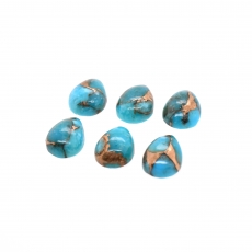 Blue Copper Turquoise Cab Pear Shape 8x6mm Approximately 6.50 Carat