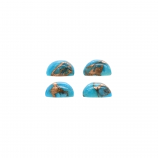 Blue Copper Turquoise Cab Trillion Shape 8mm Approximately 7.70 Carat