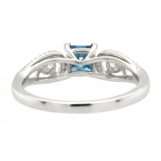 Blue Diamond 0.59 Carat With Accented Diamond Ring In 14K White Gold