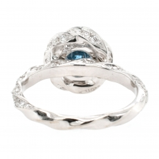 Blue Diamond 1.01 Carat With Accented Diamond Ring In 14K White Gold