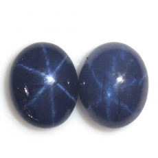 Blue Star Sapphire  Oval 10x8mm Approximately 9 Carat