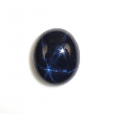 Blue Star Sapphire Cabs Oval 17.8x14.8mm Approximately 18.91 Carat