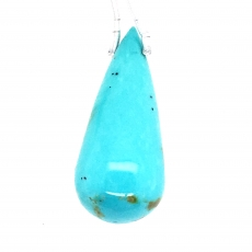 Blue Turquoise Drops Briolette Shape 31mm Drilled Bead Single Piece
