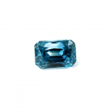 Blue Zircon Emerald Cut Shape 9.5x6.5mm 5.90 Carat*